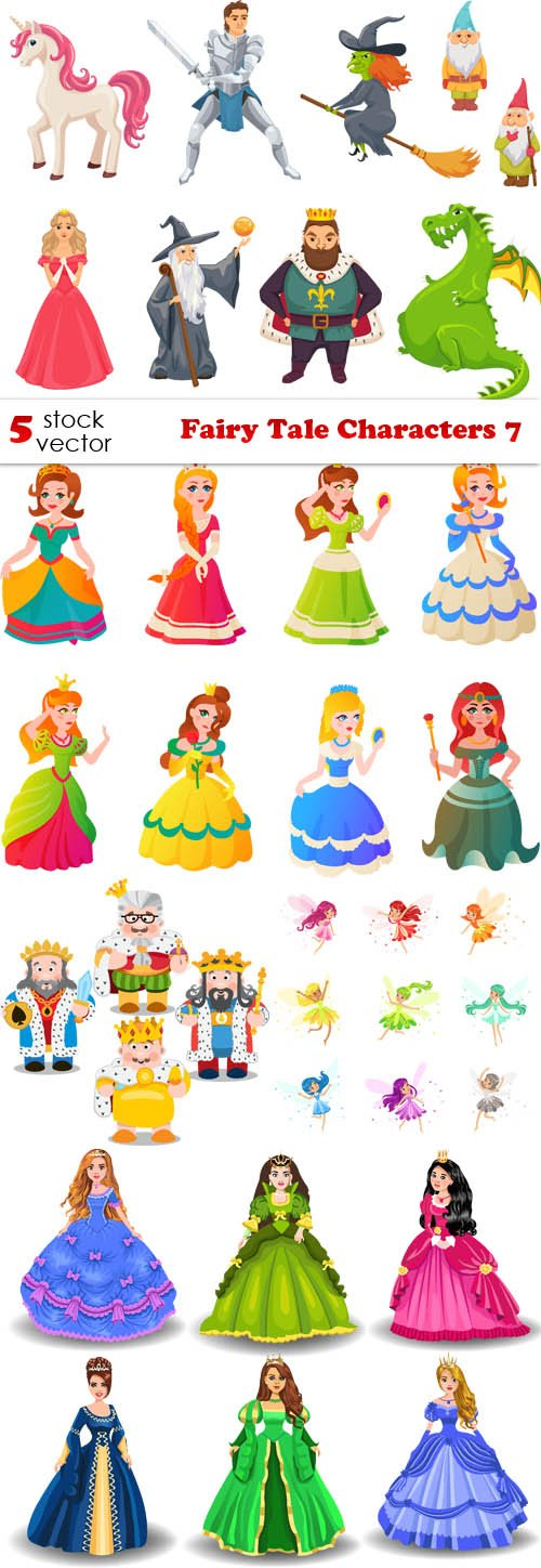 Vectors - Fairy Tale Characters 7
