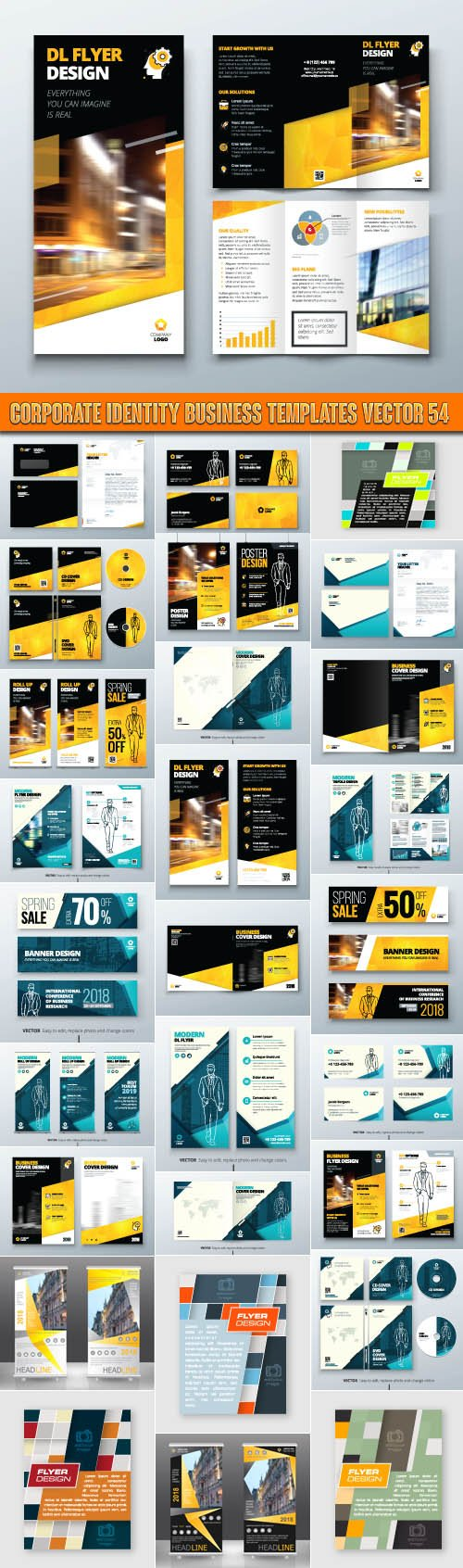 Corporate identity business templates vector 54