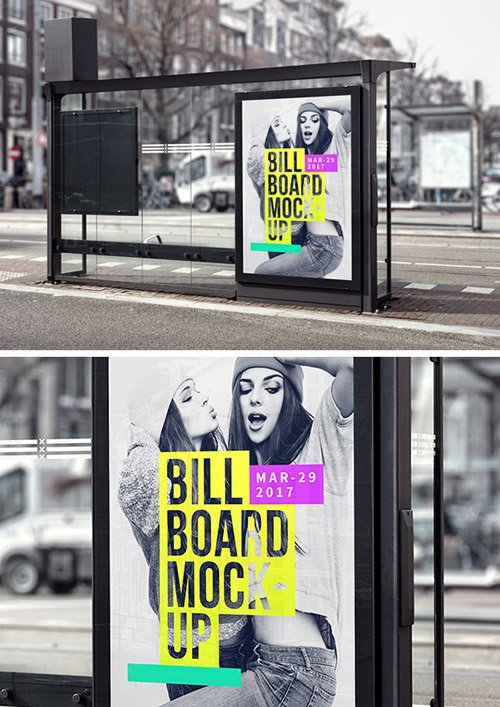 PSD Mock-Up - Bus Stop Billboard Vol. 2