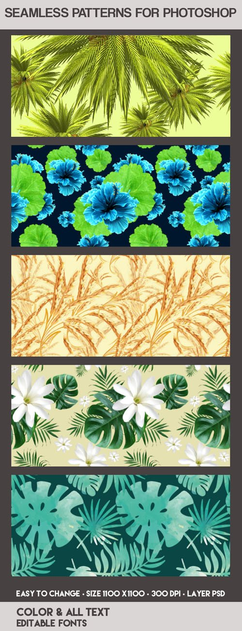 5 Preview Seamless Patterns for Photoshop