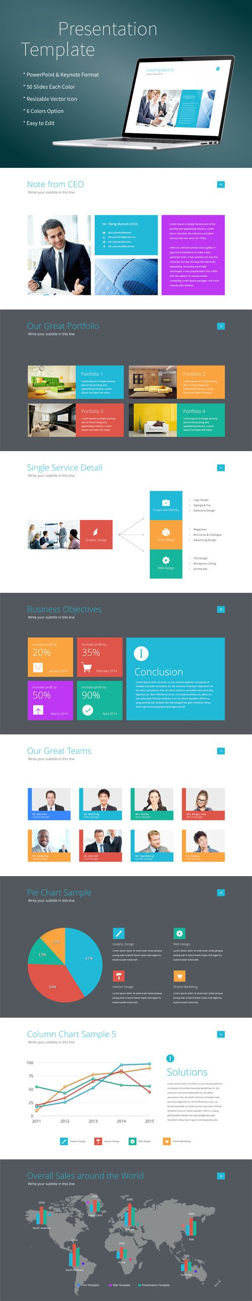 Modern & Clean Style Presentation Templates for Powerpoint & Keynote