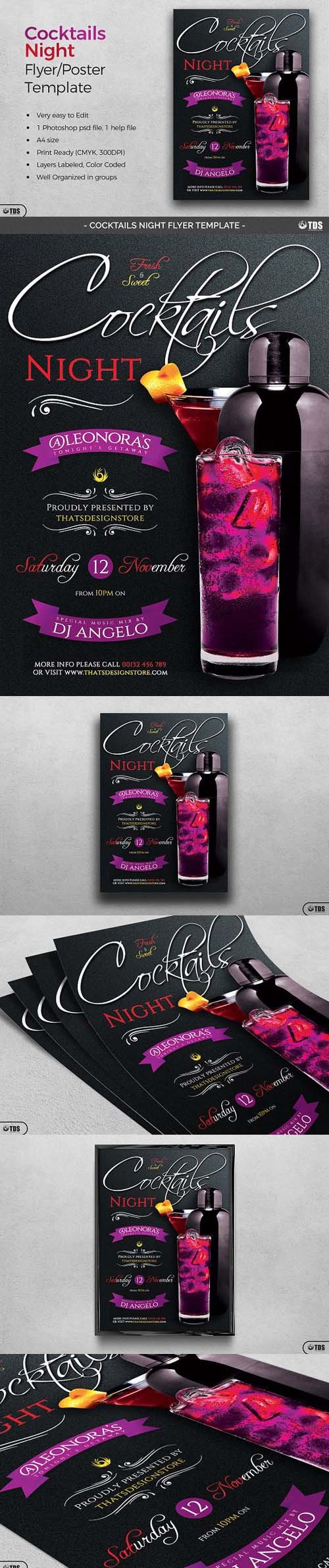 CM - Cocktails Night Flyer Template 1370012