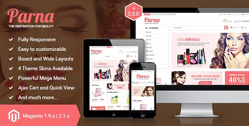 ThemeForest - Parna v2.1.0 - Responsive Multi-purpose Magento 1 and 2 Theme - 8242993