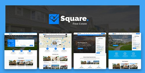 ThemeForest - Square v1.0 - Professional Real Estate PSD Templates - 18725582