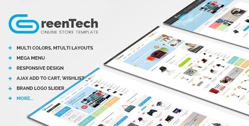 ThemeForest - GreenTech v1.0 - Shopping Responsive Magento Theme - 13140585