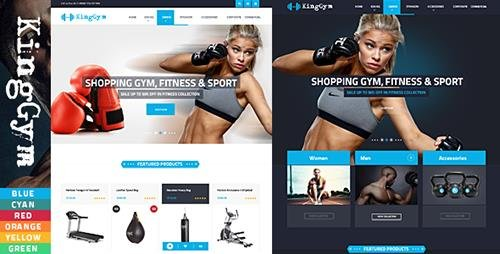 ThemeForest - Kinggym v1.0 - Fitness, Gym and Sport Prestashop Theme - 12460999
