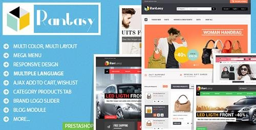 ThemeForest - Rantasy v1.0 - Responsive Prestashop Theme - 10002519