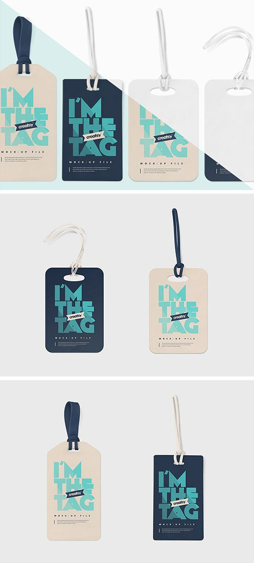 PSD Mock-Up - Luggage Diaper Tag