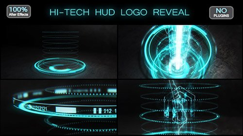 Hi-tech HUD Logo Reveal 17570074 - Project for After Effects (Videohive)
