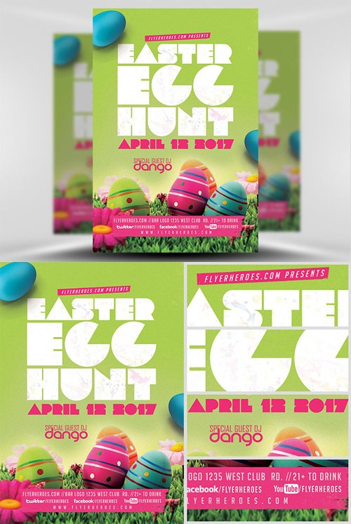 Flyer Template - Easter Egg Hunt v2