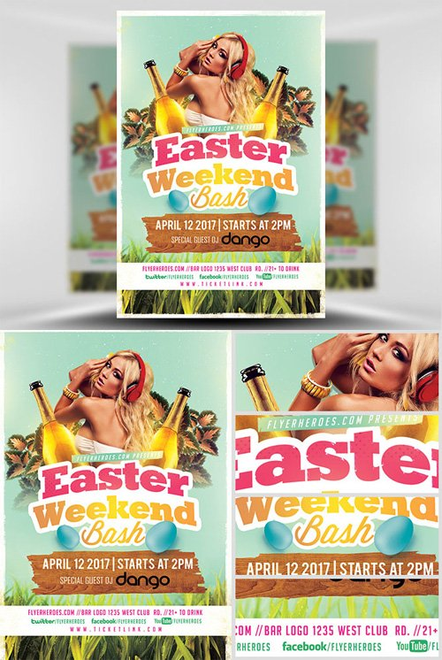 Flyer Template - Easter Weekend bash 2017