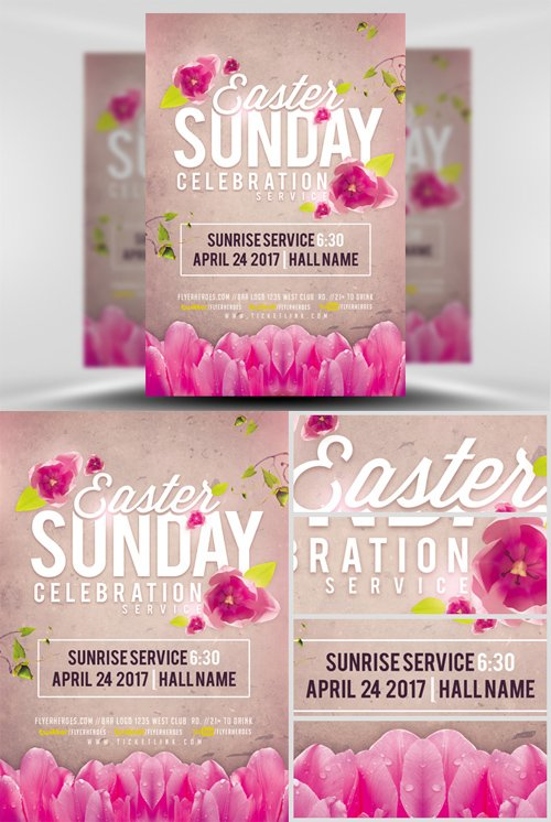 Flyer Template - Easter Sunday Celebration Service