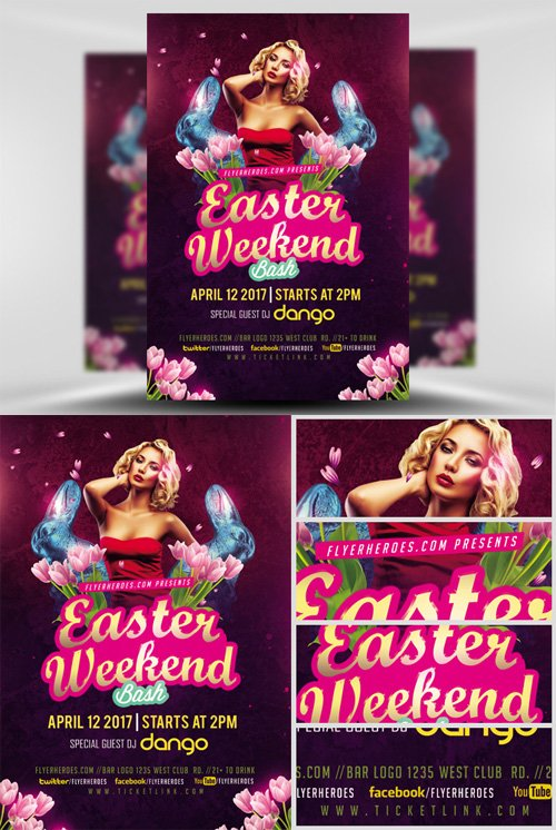 Flyer Template - Sexy Easter Weekend Bash