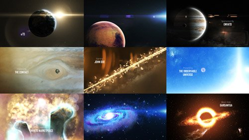 Solar System 3 ( The Observable Universe ) 8K - Project for After Effects (Videohive)