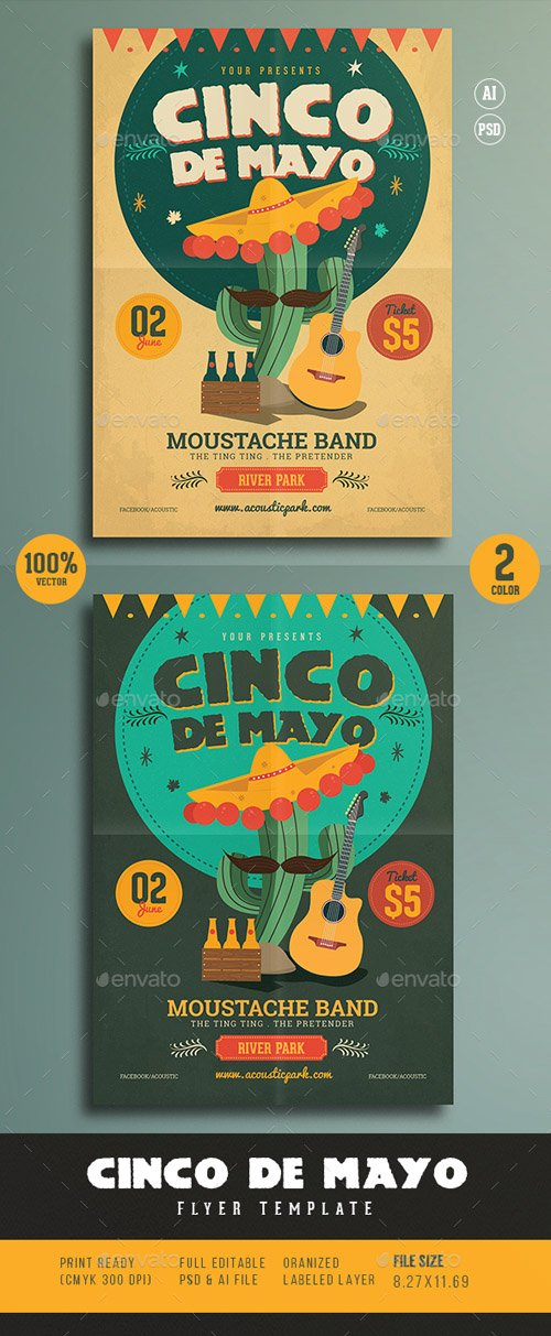 Cinco De Mayo Flyer 15700488