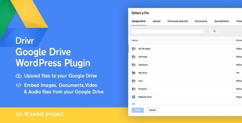 CodeCanyon - Drivr v1.0.0 - Google Drive Plugin for WordPress - 17259918