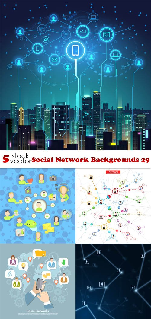 Vectors - Social Network Backgrounds 29