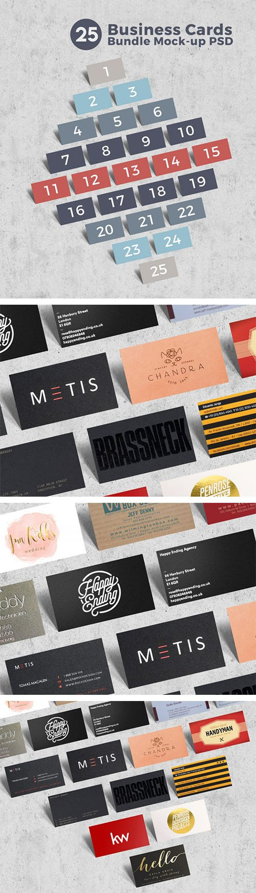 PSD Mock-Up - Business Card Bundle
