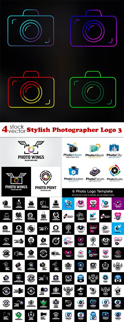 Vectors - Stylish Photographer Logo 3