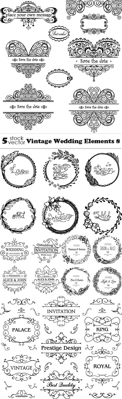 Vectors - Vintage Wedding Elements 8