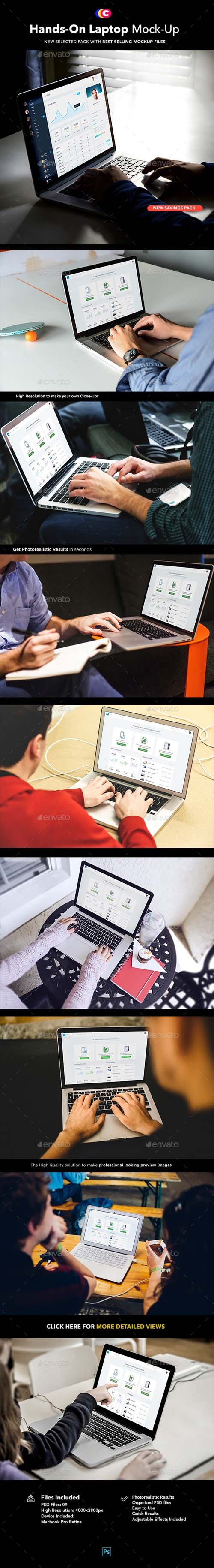 Hands on Laptop MockUp | Workspace Edition 19651770
