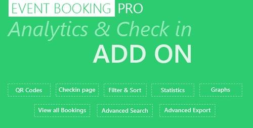 CodeCanyon - Event Booking Pro: Analytics & Checkin Addon v1.80 - 9369852