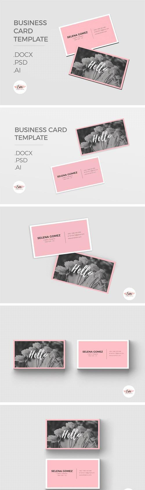 Elegant Business Card Template - 1340846