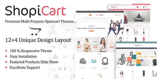 ThemeForest - ShopiCart - MultiPurpose OpenCart Theme (Update: 5 April 17) - 18602070