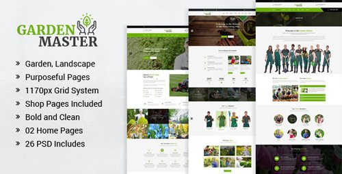 Garden Master - Gardening and Landscaping PSD Template 19590890