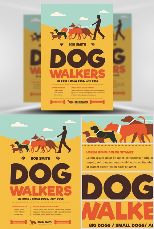 Flyer Template - Dog Walkers