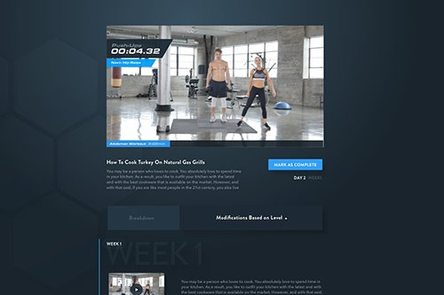 Fitness Web App - Video Player