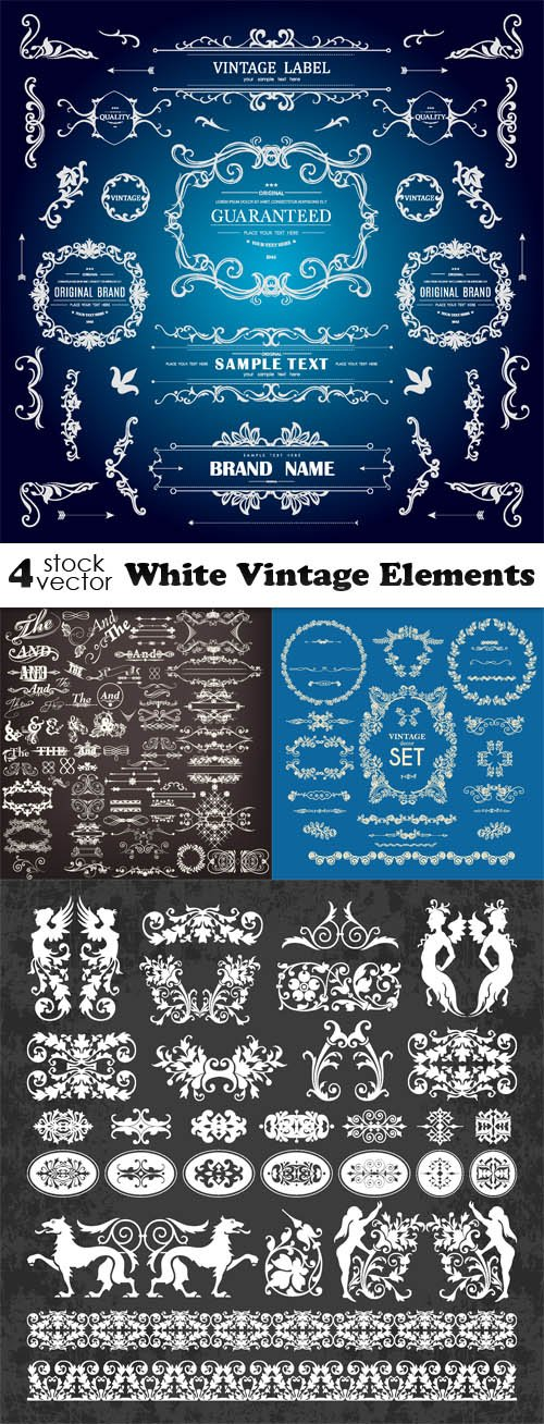Vectors - White Vintage Elements