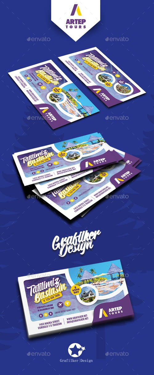 Travel Tour Business Card Templates 19734702