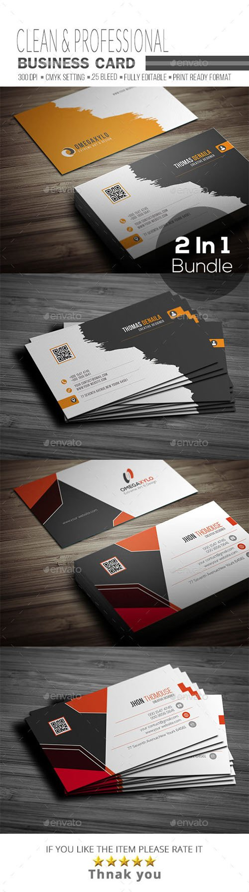 Business Card Bundle 2 In 1 19725482