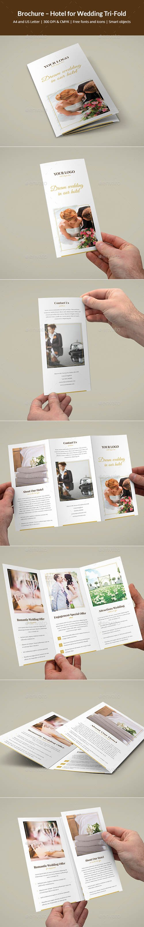 Brochure – Hotel for Wedding Tri-Fold 19527312