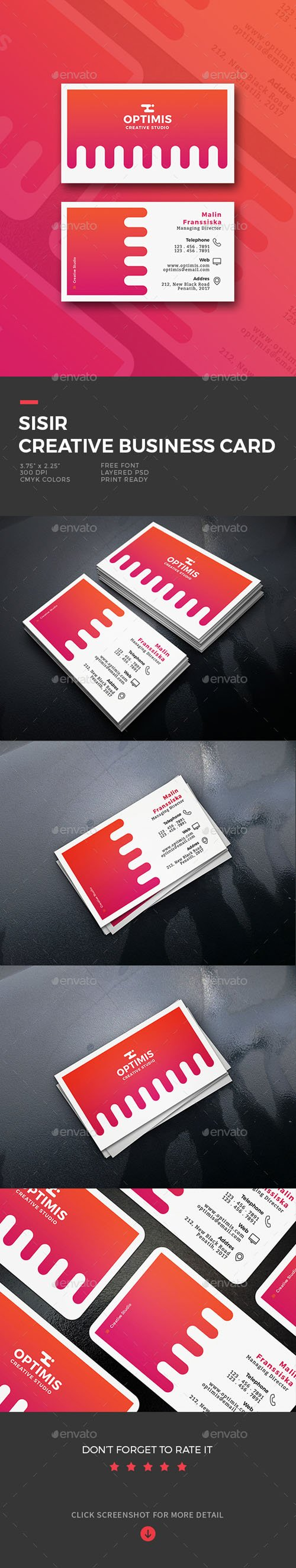 Sisir Creative Business Card 19661889