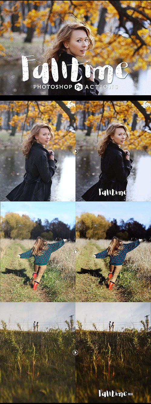 Falltime Lite - 3 Photoshop Actions