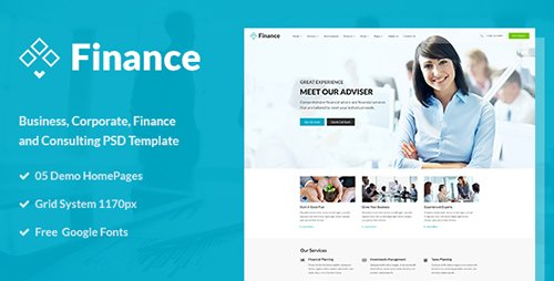 ThemeForest - Finance v1.0 - Business and Finance Corporate PSD Template - 15434658