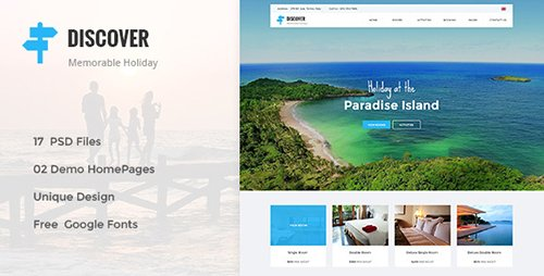 ThemeForest - DISCOVER v1.0 - Beach, Forest, Countryside Hotel & Resort PSD Template - 15175500