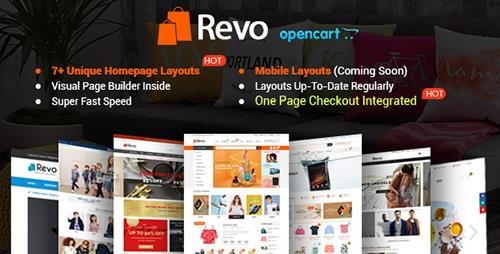 ThemeForest - Revo v1.0.1 - Drap & Drop Multipurpose OpenCart Theme - 19577129