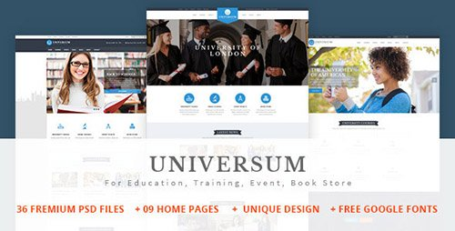 ThemeForest - UNIVERSUM v1.0 - Education, Event and Course PSD Template - 14241594