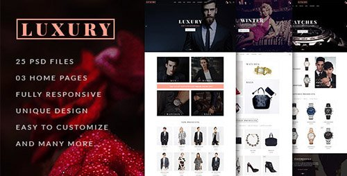 ThemeForest - LUXURY v1.0 - E-Commerce and Blog PSD Theme - 13124464