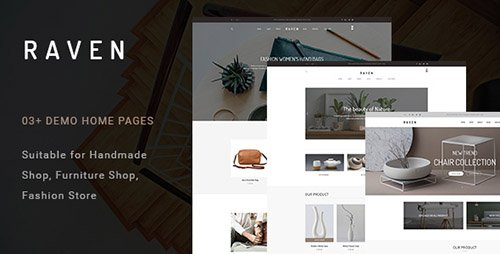 ThemeForest - Raven v1.0 - Handmade and Furniture Shop PSD Template - 19585625