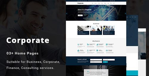 ThemeForest - Corporate v1.0 - Business and Professional Services PSD Template - 19530407