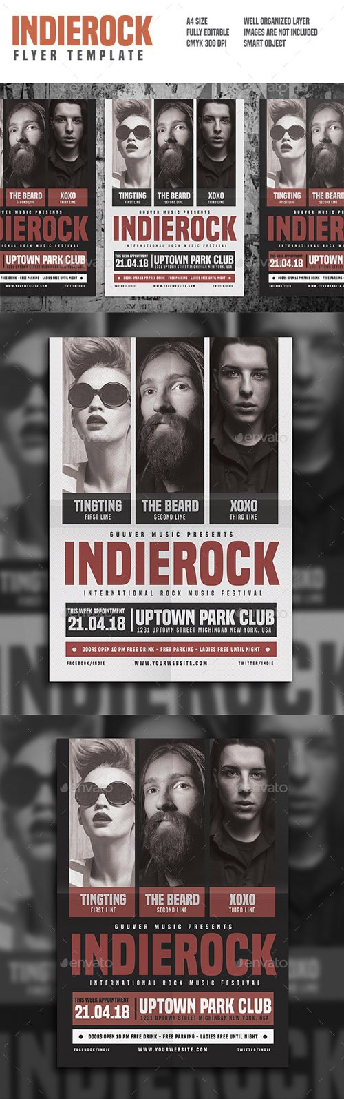 Indie Rock Flyer 16170484