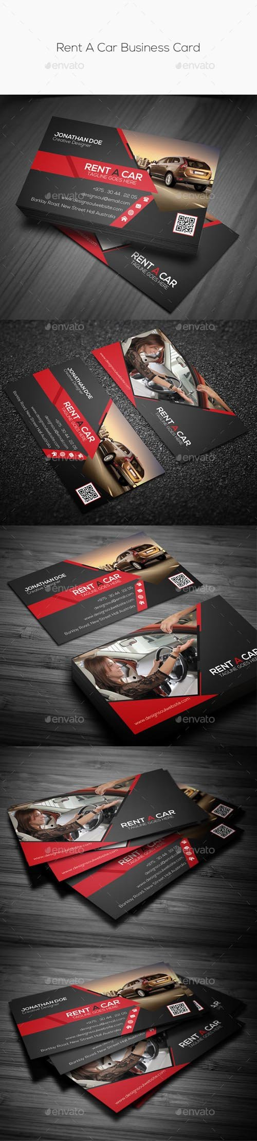 Rent A Car Business Card 10069504