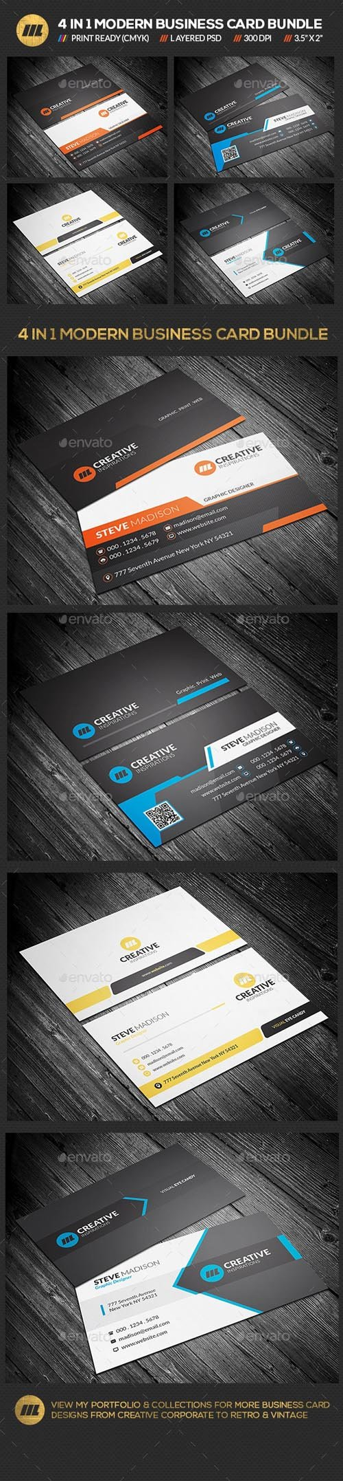 GR - 4 in 1 Business Card Bundle 01 19590322