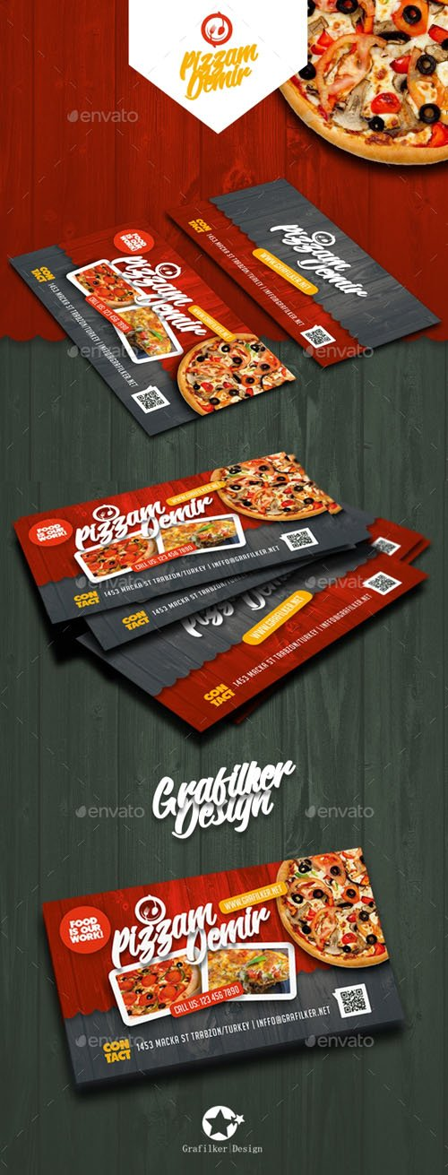 GR - Restaurant Business Card Templates 19538974