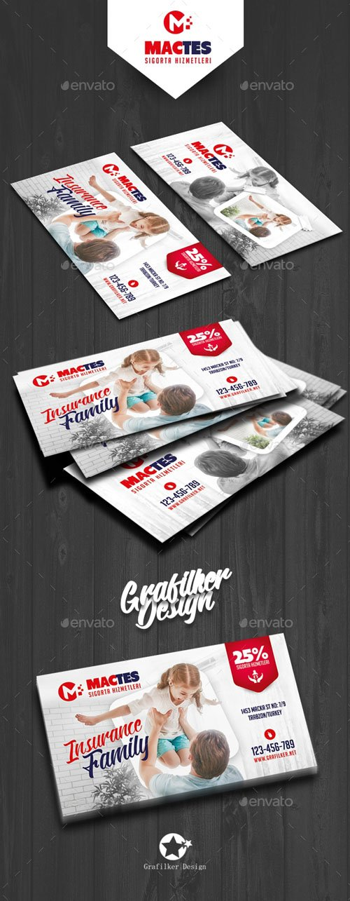 GR - Insurance Business Card Templates 19612272