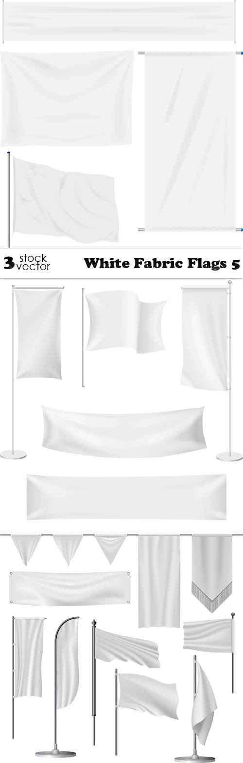 Vectors - White Fabric Flags 5